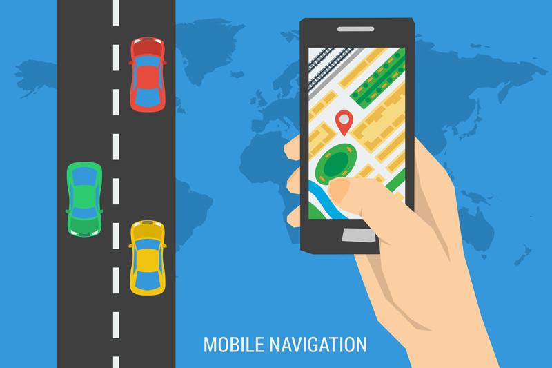 Das Smartphone als Navigationsgerät - Copyright sergeyvasutin @ fotolia . com