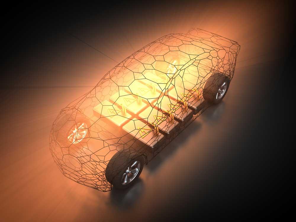 Elektroauto mit Batteriesatz Copyright Patrick P. Palej @ fotolia.com