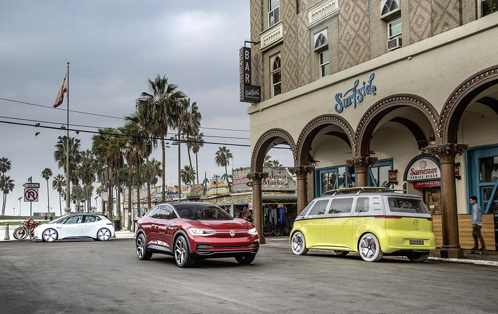 Die I.D.-Familie von Volkswagen auf der Los Angeles Auto Show 2017 - Copyright Volkswagen