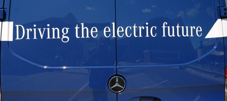 Heckansicht eSprinter - green car magazine