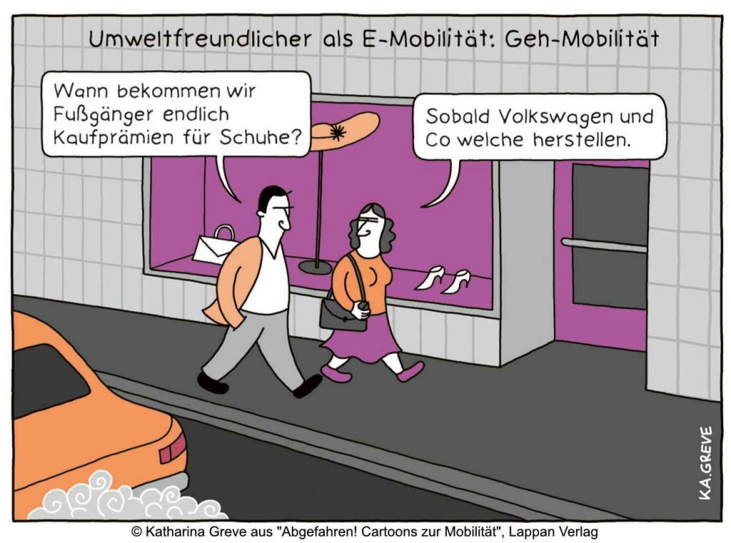 Cartoon Abgefahren -Copyright Infotext und Bildmaterial Lappan Verlag