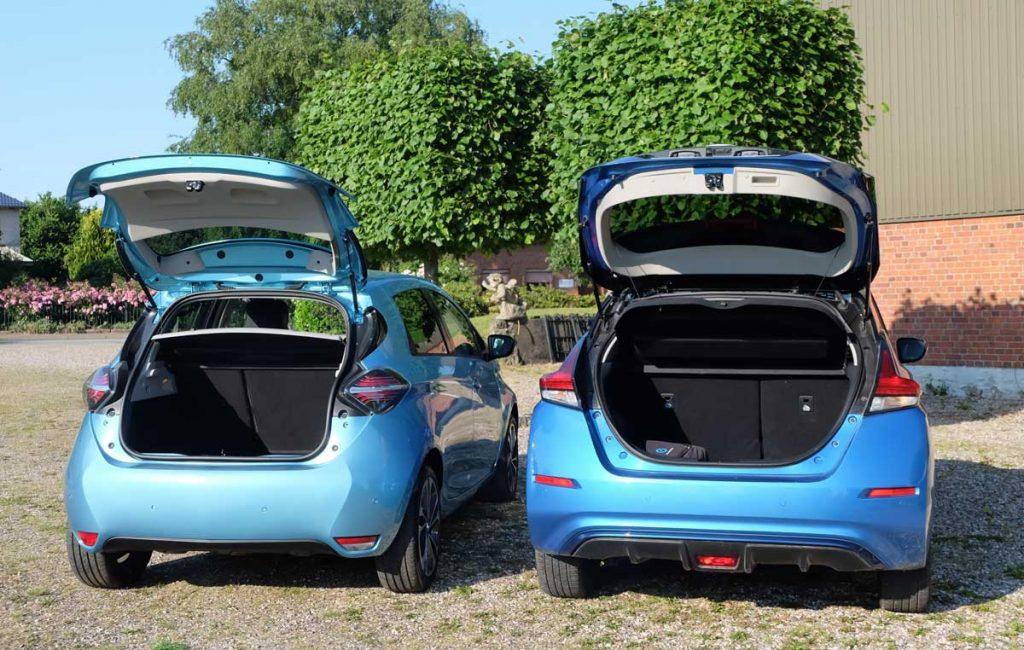Renault Zoe - Nissan Leaf Vergleich Ladekanten